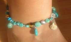 Ankle Bracelet ~ Turquoise Anklet by Chickee on Zibbet -