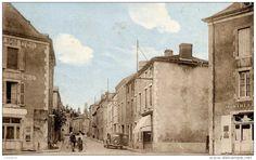 79  CERIZAY  La Grande Rue  animée voiture Hôtel du Lion d´Or