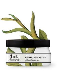 Nourish Organic Body Butter Unscented Sensible Organics 3.6 oz Cream (food babe)