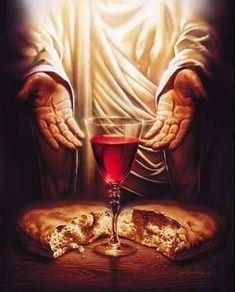 Simbolos Cristianos: El Cuerpo y la Sangre de Jesus. El Pan y el Vino Sagrados