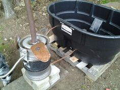 Homesteader wood fired hot tub
