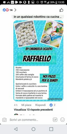 Biscotti, Finger Foods, Food And Drink, Sweets, Drinks, Cooking, Breakfast, Raffaello, Drinking