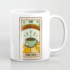 That's The Tea, Sis Tarot Card Coffee Cup by Groovy Galaxy - 11 oz