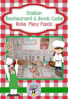 Children will have a great time engaging in dramatic play with this role play pack! You can choose to set up either an Italian restaurant or book cafe.This resource pack contains:* 'Italian Restaurant' and 'Book Cafe' signs* 6 role badges: customer, waiter, waitress, chef, cashier and manager (designed to go on lanyards).* 5 posters explaining the duties of each role (customer, waiter & waitress, customer, chef, cashier and manager)* Open and closed sign (laminate back to back)* Opening…