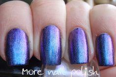 TKB Moondust Pigments: Lavender Luz. It has a blue to purple shift. (over black).