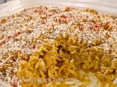 Creamy #Vegan Baked Butternut Squash Mac And Cheeze