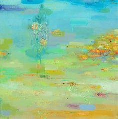 Impresión de Giclee 12 x 12 de pintura al óleo abstracto original-playa y mar