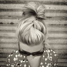 Love the French braid to simple bun