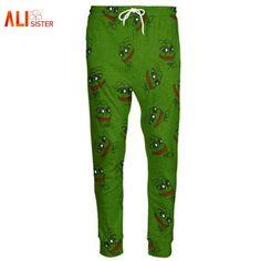 0315b4cc3eed US $14.96 20% OFF|Aliexpress.com : Buy Alisister 3D Pepe Frog Joggers Pants  Men/Women Funny Cartoon Trousers Sweatpants Autumn Fall Winter Style  Trousers ...
