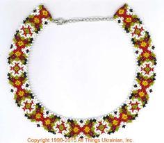 AllThingsUkrainian.com gherdany Bead Jewelry  # GIBN15107