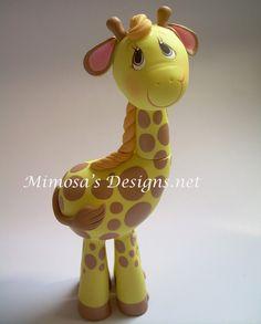 *COLD PORCELAIN ~ Giraffe Cake Topper