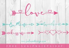 FREE Valentine Arrows SVG