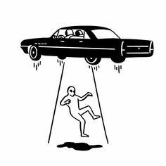 car abduction of aliens ceramic tile - fun gifts funny diy customize personal Tattoo Sketches, Tattoo Drawings, Art Sketches, Tattoo L, Body Art Tattoos, Graffiti Tattoo, Future Tattoos, Cool Art, Street Art