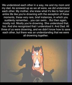 Bojack free churro. Tv Show Quotes, Sad Quotes, Series Movies, Tv Series, Great Works Of Art, Bojack Horseman, Fictional World, Great Tv Shows, What Is Like