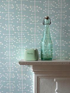 Not a big fan of wallpaper, but I like this. a lot, maybe on an accent wall. MissPrint Muscat Small Wallpaper,