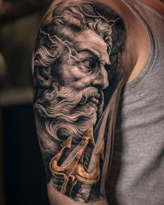 What does poseidon tattoo mean? We have poseidon tattoo ideas, designs, symbolism and we explain the meaning behind the tattoo.