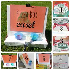 How to make a pizza box easel