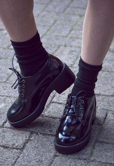 blacky Plateau Schuhe