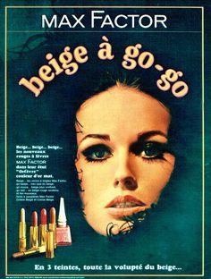 "Max Factor ""Beige á Go-Go"" Lipstick & Nail Polish Ad, 1965"