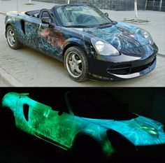 glow in the dark car paint---hmmmmm, I just might not lose my car