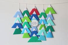 DIY Calendrier de l'Avent – Through the mountains
