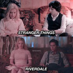 stranger things x riverdale parallel parallel riverdale stranger Stranger Things. stranger things x riverdale parallel parallel riverdale stranger Stranger Things. Memes Riverdale, Watch Riverdale, Riverdale Funny, Bughead Riverdale, Riverdale Tv Show, Riverdale Season 1, Stranger And Stranger, Watch Stranger Things, Stranger Things Aesthetic