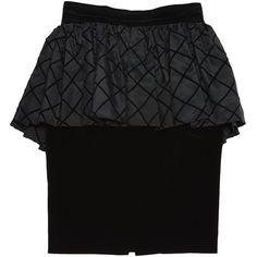 Pre-owned Natan Velvet Mid-Length Skirt ($163) ❤ liked on Polyvore featuring skirts, black, women clothing skirts, print skirt, vintage high waisted skirts, peplum skirt, zipper skirt and velvet high waisted skirt