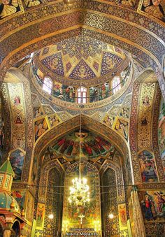 Vank cathedral - Isfahan (Iran), - (Armenian Holy Savior Cathedral/Church also… Persian Architecture, Beautiful Architecture, Art And Architecture, Architecture Details, Cathedral Architecture, Monuments, Teheran, Persian Culture, Armenian Culture