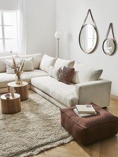 These 4 Living Room Trends for 2019 – Modells. Beige Sofa Living Room, Living Room Chairs, Home Living Room, Interior Design Living Room, Living Room Designs, Living Room Decor, Wood Home Decor, Living Room Inspiration, Minimalist Home