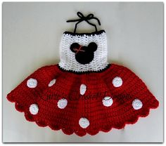 Minnie Mouse RED Polka Dots Crocheted by KariesCrochetDesigns, $30.00