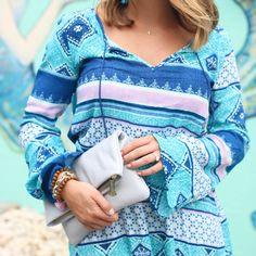 Shelby Skaggs of Glitter & Gingham, H&M Dress, Gigi NY Clutch - @sskaggs0