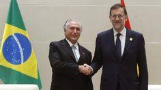 Rajoy se lanza a arropar al nuevo presidente de Brasil