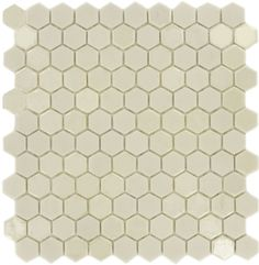 Recycled Gem Hexagon White Glossy & Matte Iridescent Glass Tile