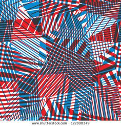 Seamless geometric abstraction with lined elements, vector background eps 8. by Sylverarts, via ShutterStock