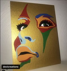 Modern Portrait Artists, Modern Portraits, Face Illusions, Gold Canvas, Masquerade, Artwork, Check, Painting, Instagram