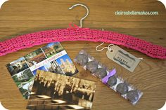 Crochet clothes hanger & gifts for Handmade Gift Exchange