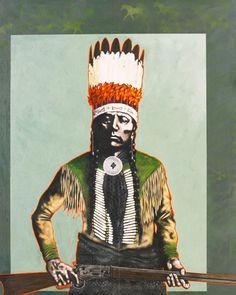 Quanah Parker - War Chief By Nocona Burgess kp