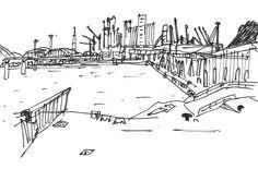 Sketch, Cities, Sketch Drawing, Draw, Sketching, Tekenen