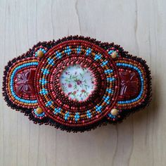 Check out this item in my Etsy shop https://www.etsy.com/listing/231316693/beaded-barrette-handmade-hair-accessory