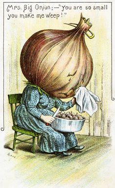 Antique vintage anthropomorphic onion