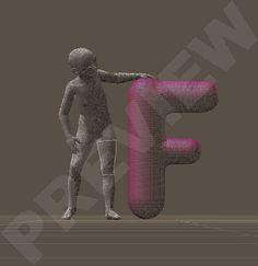 Alphabet poses for Diva