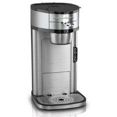 Hamilton Beach Single Serve Scoop Coffee Maker, Stainless Steel ** A special product just for you. Single Cup Coffee Maker, Pod Coffee Makers, Best Coffee Maker, French Press Coffee Maker, Single Serve Coffee, Just In Case, Just For You, Coffee Maker Reviews, Automatic Espresso Machine
