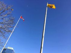 """#VaisakhiCelebrationsInCanada #ProudToBeSikh """"Jhoolte Nishan Rahe Sache Patshah Ke """" Vaisakhi in Canada, Nishan Sahib is ensign of the Khalsa (Panth - the Sikh World). It is hoisted in religious gatherings and other congregations related to the Sikhs. Nishan Sahib flown side by side with Canadian flag. Mayor of Brampton, Council members of Brampton, Staff of mayor`s office and entire Sikh Community to participate in Kesri Nishaan. Share and Spread the world !"""