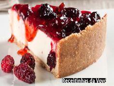 Receita Torta de amora com iogurte