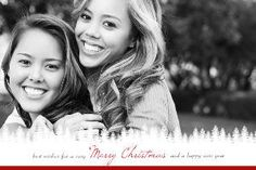 Mixbook Frosted Pines Christmas Cards