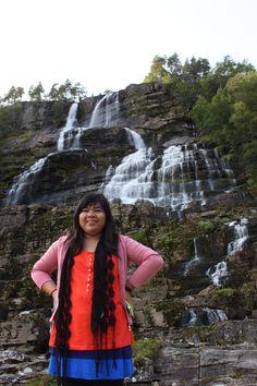 hydnesfossen waterfall behind me... Buskerud, Norway