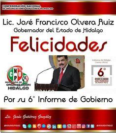 @Paco_Olvera  @gobiernohidalgo  #6InformeHidalgo #CNOPHidalgo #SecretariaDeOrganizacionCNOP