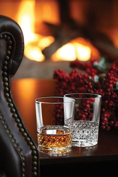 Cashs Crystal Cooper Single Malt Glasses, Pair