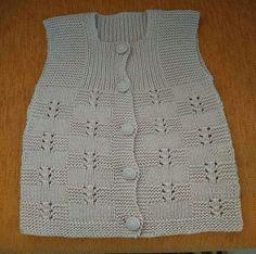 Bridal Vest Making Knitting Patterns Boys, Baby Cardigan Knitting Pattern, Crochet Poncho Patterns, Easy Knitting Patterns, Vest Pattern, Knitting For Kids, Knitting Designs, Baby Knitting, Knit Vest