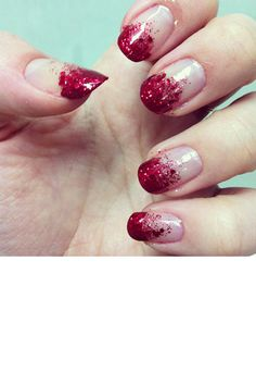 red glitter gradient (aka just cut someone)